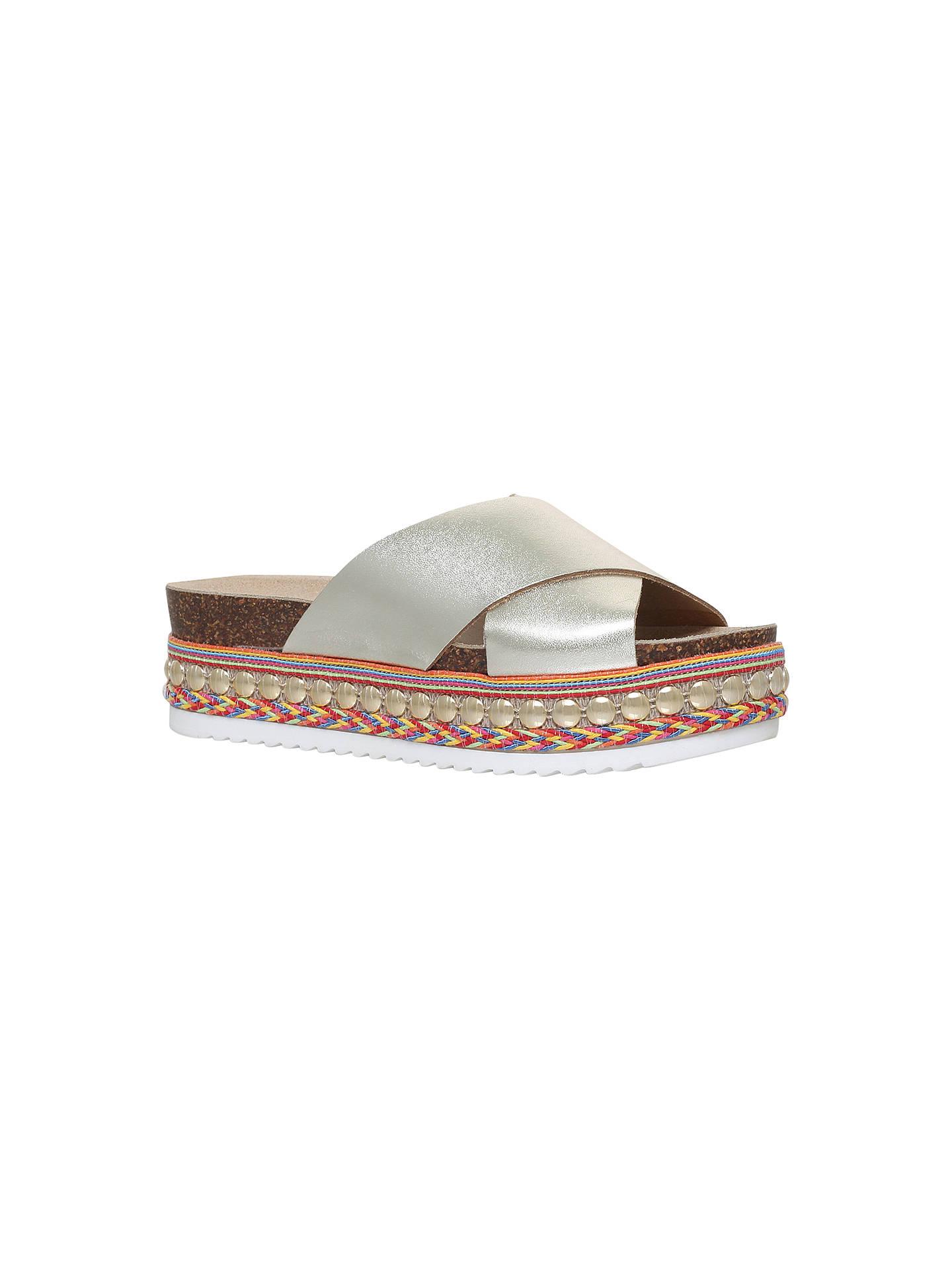 40fa459d580 Carvela Kake Flatform Slider Sandals, Gold
