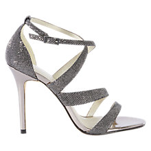 Buy Karen Millen Glitter Collection Stiletto Sandals Online at johnlewis.com