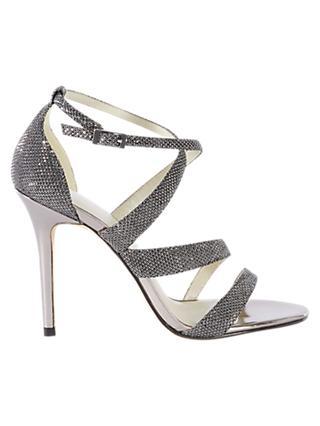 55b5c3759af2 Karen Millen Glitter Collection Stiletto Sandals
