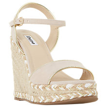 Buy Dune Krysie Raffia Wedge Heeled Sandals Online at johnlewis.com