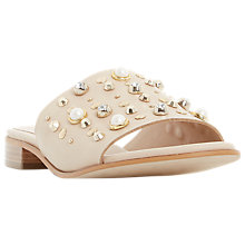 Buy Dune Linz Pearl Stud Mule Sandals, Nude Online at johnlewis.com