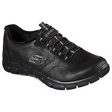 Buy Skechers Empire Slip On Trainers, Black Online at johnlewis.com