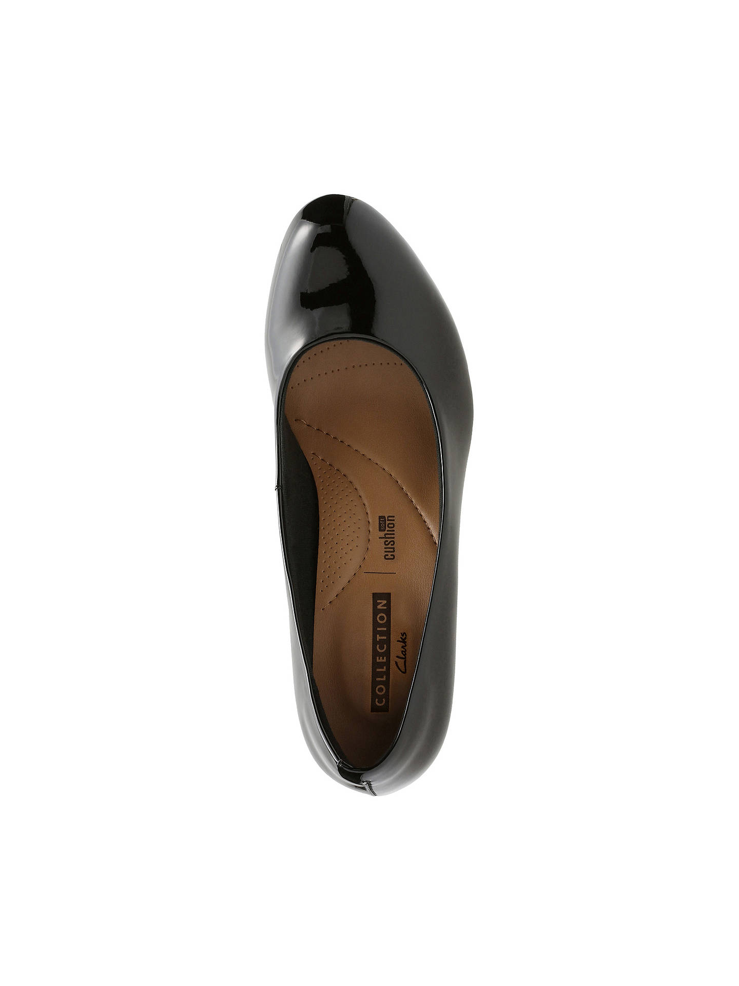 0f1a4577546cb ... Buy Clarks Adriel Viola Block Heeled Court Shoes, Black Patent, 5  Online at johnlewis ...