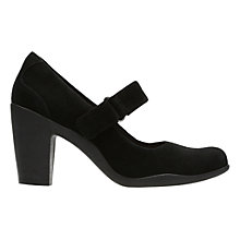 Buy Clarks Adya Clara Block Heeled Court Shoes, Black Online at johnlewis.com