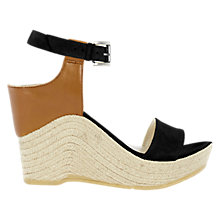 Buy Karen Millen Wedge Heeled Espadrille Sandals, Black Online at johnlewis.com