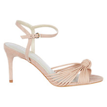 Buy Karen Millen Knot Detail Stiletto Heeled Sandals, Nude Online at johnlewis.com