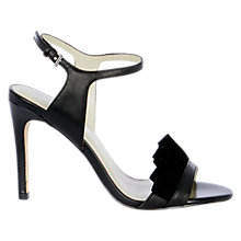 Buy Karen Millen Ruffle Collection Sandals, Black Online at johnlewis.com