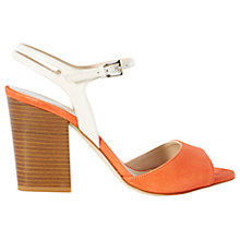 Buy Karen Millen Patent and Suede Block Heeled Sandals Online at johnlewis.com