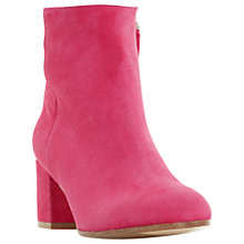 Buy Dune Black Orsen Classic Block Heeled Ankle Boots, Pink Online at johnlewis.com