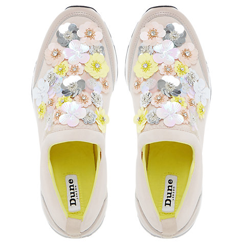 Buy Dune Elecktra Embellished Slip On Trainers Online at johnlewis.com