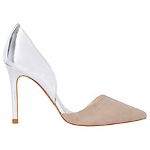 Buy Karen Millen Two Part Court Shoes, Nude Online at johnlewis.com