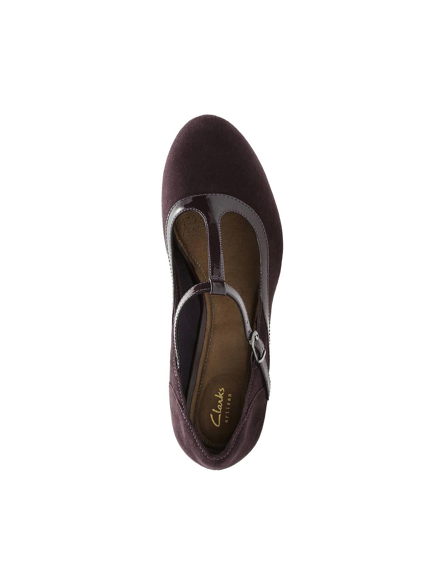 407f56c1cd3c9 ... Buy Clarks Chorus Pitch T-Bar Court Shoes, Aubergine, 4 Online at  johnlewis ...