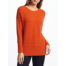 Buy John Lewis Mixed Rib Drop Sleeve Cashmere Jumper Online at johnlewis.com
