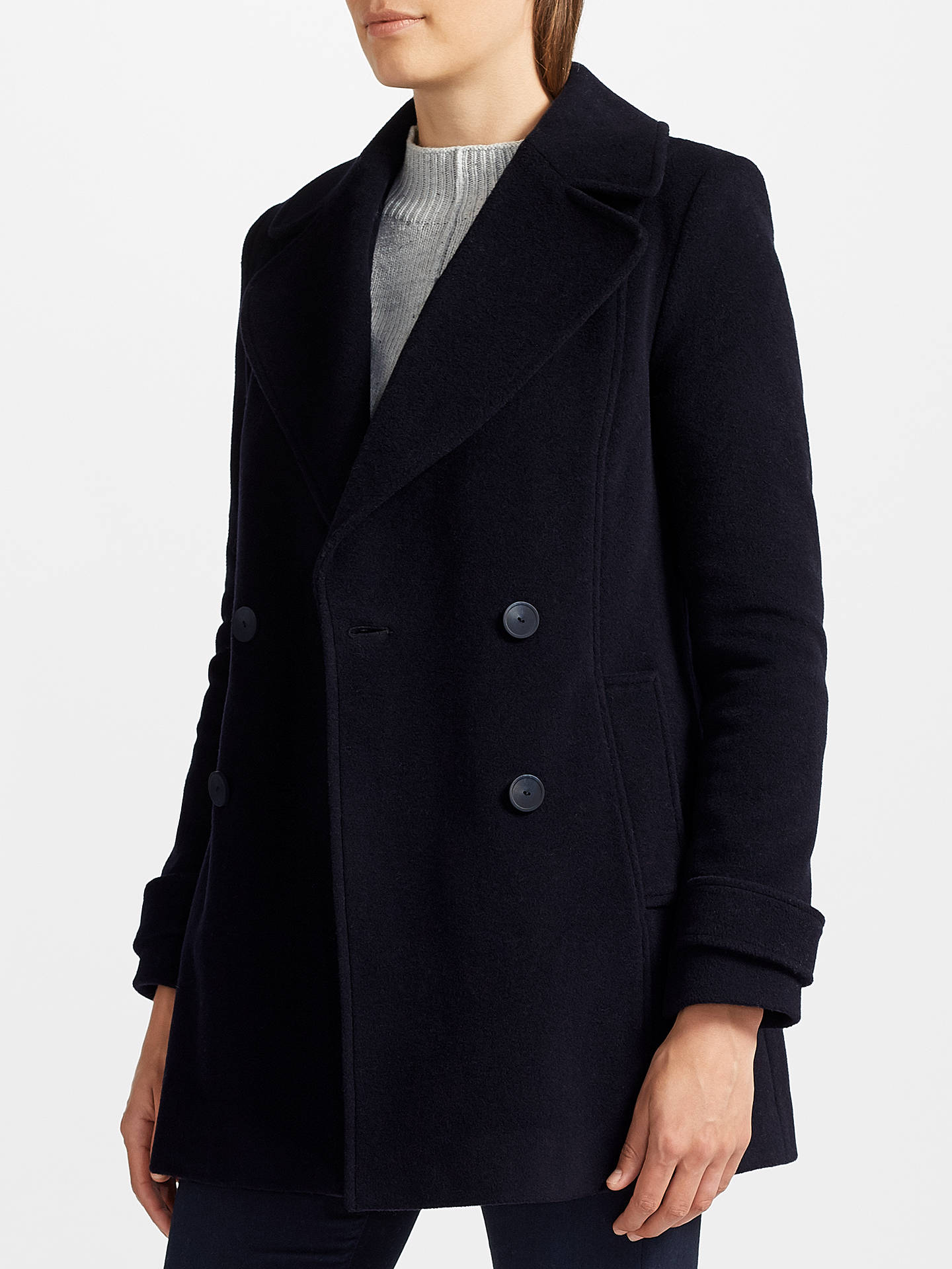 b35d51ba9 John Lewis Relaxed Double Breasted Pea Coat