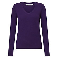 Buy John Lewis Cashmere Rib Trim V-Neck Jumper Online at johnlewis.com