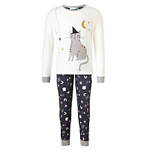 Buy John Lewis Children's Scaredy Cat Pyjamas, Multi Online at johnlewis.com