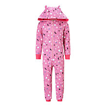 Buy John Lewis Children's Galactic Onesie, Pink Online at johnlewis.com