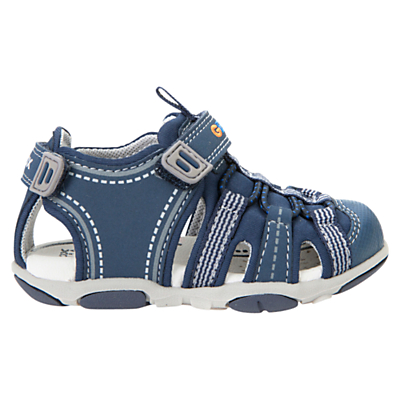 Geox Children's Agasim Sandals, Navy/Grey