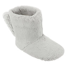 Buy John Lewis Children's Angel Boot Slippers, Grey Online at johnlewis.com