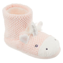 Buy John Lewis Children's Unicorn Slipper Boots, Pink Online at johnlewis.com