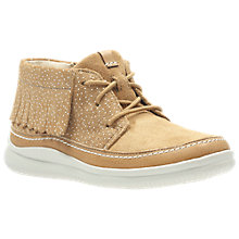 Buy Clarks Children's Cloud Aklark Boot, Tan Online at johnlewis.com