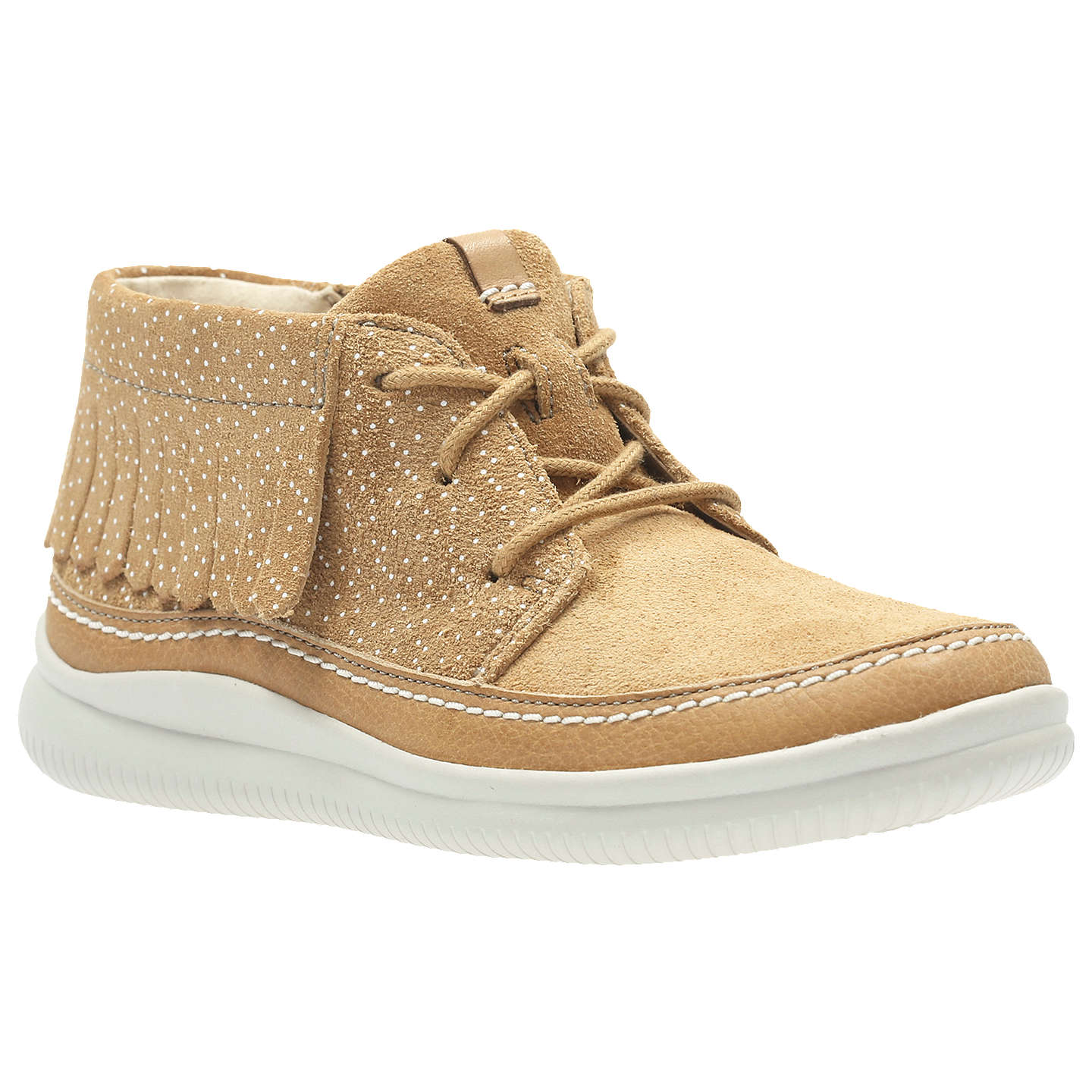 BuyClarks Children's Cloud Aklark Boot, Tan, 8F Jnr Online at johnlewis. ...