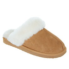 Buy John Lewis Children's Sheepskin Mule Slippers, Tan Online at johnlewis.com