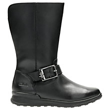 Buy Clarks Children's Gloform MarielStar Leather Boots, Black Online at johnlewis.com