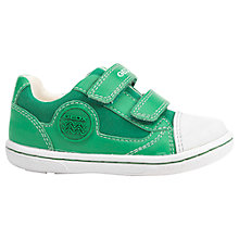 Buy Geox Children's Flick Double Rip-Tape Leather Trainers Online at johnlewis.com