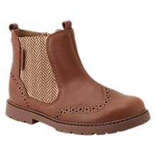 Buy Start-rite Children's Leather Chelsea Boots, Tan Online at johnlewis.com
