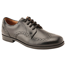 Buy Start-rite Brogue Senior Leather Lace-up School Shoes, Black Online at johnlewis.com