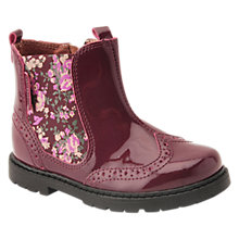 Buy Start-rite Children's Floral Chelsea Boots, Wine Online at johnlewis.com