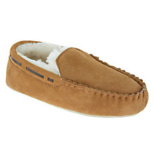 Buy John Lewis Children's Sheepskin Moccasin Slippers, Tan Online at johnlewis.com