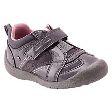 Buy Start-Rite Children's Play Rip-Tape First Shoes, Grey Online at johnlewis.com