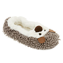 Buy John Lewis Children's Noodle Hedgehog Slippers, Grey Online at johnlewis.com