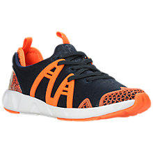 Buy Clarks Children's Luminous Run Trainers, Navy/Orange Online at johnlewis.com