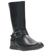 Buy Clarks Children's Gloform MarielStar Infant Leather Boots, Black Online at johnlewis.com