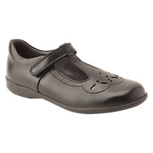 Buy Start-rite Poppy T-bar Leather Shoes, Black Online at johnlewis.com