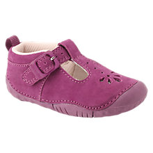 Buy Start-rite Baby Bubble T-bar Leather Shoes, Berry Online at johnlewis.com