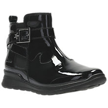 Buy Clarks Children's Mariel Sky Boots, Black Patent Online at johnlewis.com