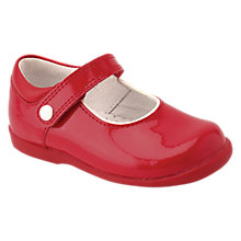 Buy Start-Rite Children's Nancy Leather Rip-Tape Shoes, Red Online at johnlewis.com
