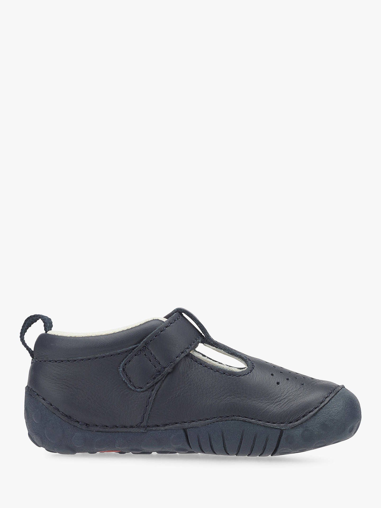 BuyStart-rite Baby Jack T-bar Leather Shoes, Navy, 2F Jnr Online at johnlewis.com