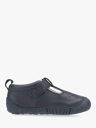 4245aab726819 Start-rite Children's Baby Jack T-Bar Leather First Shoes, ...