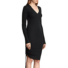 Buy AllSaints Vana V-Neck Wool Knit Dress, Black Online at johnlewis.com