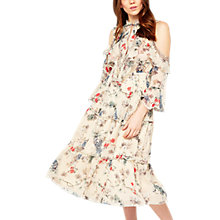 Buy Miss Selfridge Floral Tiered Cold Shoulder Dress, Multi Online at johnlewis.com