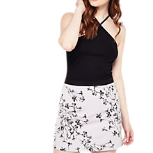 Buy Miss Selfridge Floral A-Line Skirt, Multi Online at johnlewis.com