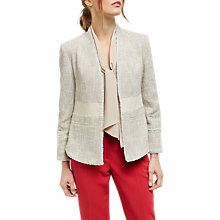 Buy Jaeger Tweed Tailored Jacket, Beige Online at johnlewis.com