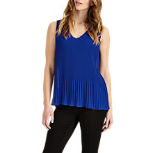 Buy Phase Eight Ella Sleeveless Pleated Blouse, Blue Online at johnlewis.com