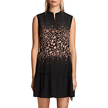 Buy AllSaints Lin Lyos Silk Dress, Blush Pink/Black Online at johnlewis.com