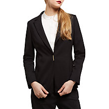 Buy Jaeger Wool Metal Bar Snap Jacket, Black Online at johnlewis.com
